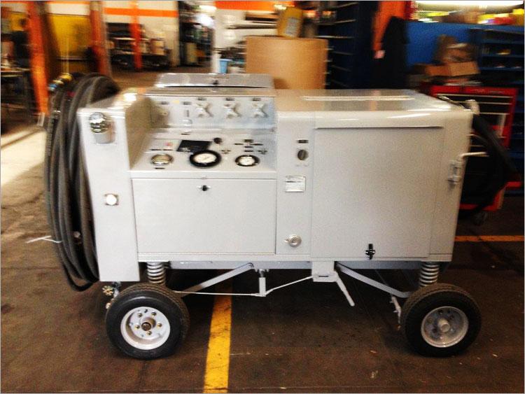 T45 Small Portable Hydraulic Mule Test Stand - Custom Hydraulic Test